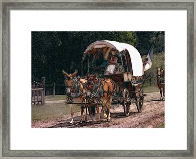 On The Bozeman Trail Framed Print by Kae Cheatham