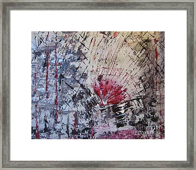 Framed Print featuring the painting On The Bright Side by Lucy Matta