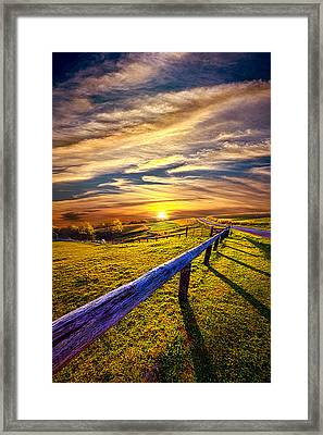 On The Brighter Side Framed Print by Phil Koch