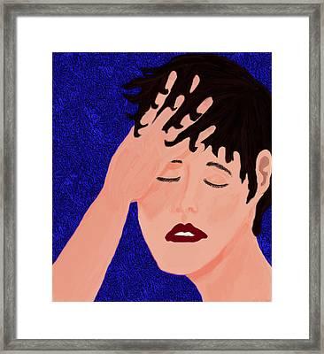 On The Brink Framed Print by Elizabeth S Zulauf