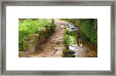 On The Camino A Reflective River Framed Print