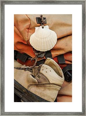 On The Camino De Santiago Framed Print