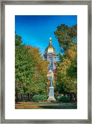 On The Campus Of The University Of Notre Dame Framed Print