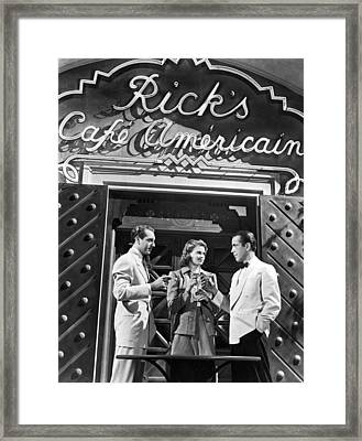 On The Casablanca Set Framed Print
