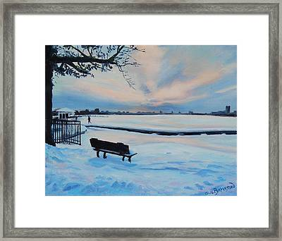 On The Charles Framed Print by Sue Birkenshaw
