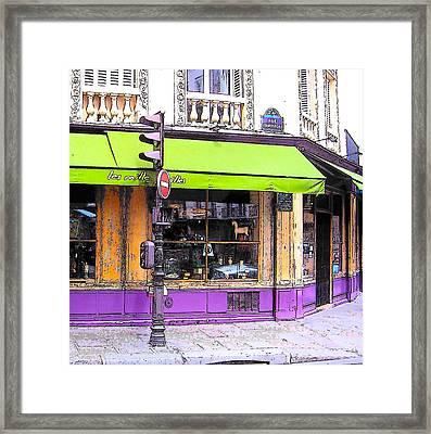 On The Corner Of Rue Rambuteau Framed Print by Jan Matson