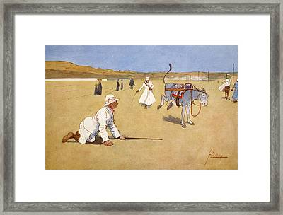 On The Dam Road, Assouan, From The Framed Print