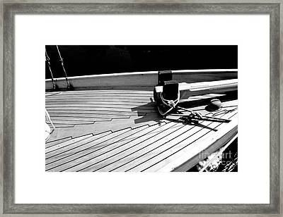 On The Deck Framed Print
