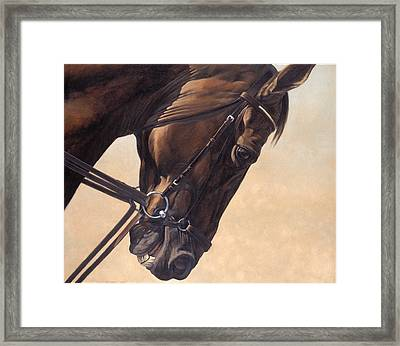 On The Diagonal Framed Print by JQ Licensing