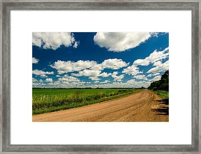 On The Dirt Road  Framed Print by Eli  Adams