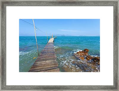 On The Dock Framed Print by Alexey Stiop
