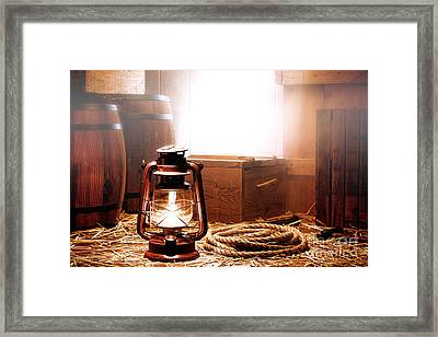 On The Dock Framed Print by Olivier Le Queinec