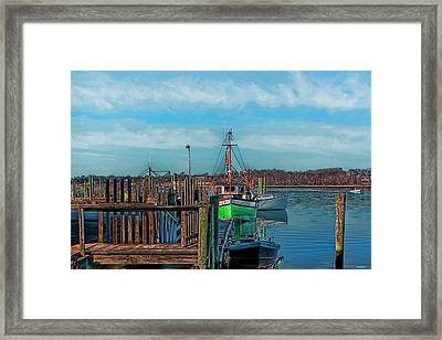 On The Dockside Bristol Rhode Island Framed Print