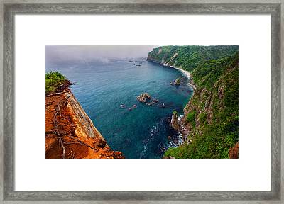 Framed Print featuring the photograph On The Edge by Brad Brizek