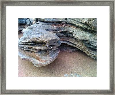 On The Edge Framed Print by Julie Wilcox