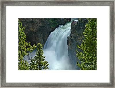 Framed Print featuring the photograph On The Edge by Nick  Boren