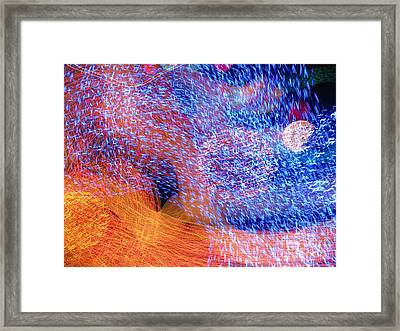 On The Edge Of Night Framed Print