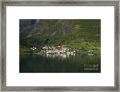 On The Edge Of The Fjord Framed Print by Anne Gilbert