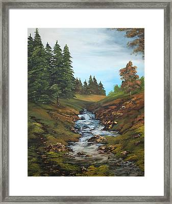 On The Edge Of The Forest Framed Print