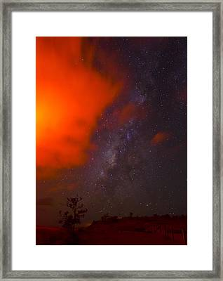 On The Edge Framed Print by Sean King