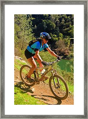 Framed Print featuring the photograph On The Edge by Sherri Meyer