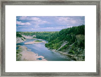 On The Falls Framed Print by Lisa Killins