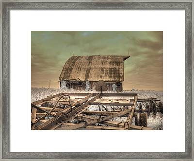 On The Farm Framed Print by Jane Linders