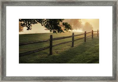 On The Fence Framed Print by Bill Wakeley