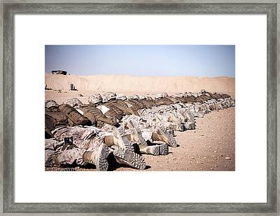On The Firing Range Framed Print by Mountain Dreams