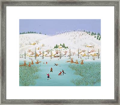 On The Frozen Lake Framed Print by Magdolna Ban