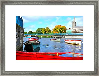 Framed Print featuring the photograph On The Garavogue by Charlie and Norma Brock