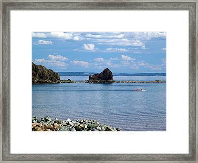 On The Glooscap Trail Framed Print by Janet Ashworth