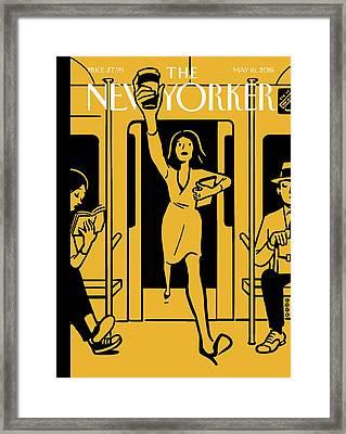 On The Go Framed Print by Christoph Niemann