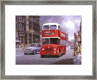 On The Golden Mile Framed Print by Mike  Jeffries