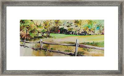 On The Green Framed Print