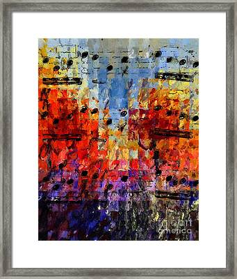Framed Print featuring the digital art On The Grid 1 by Lon Chaffin