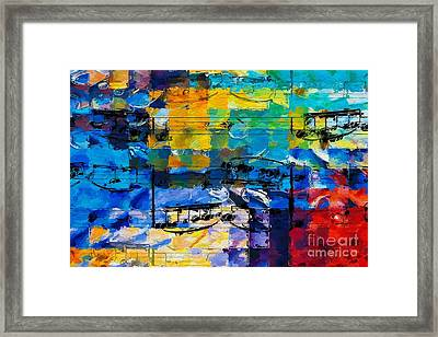 Framed Print featuring the digital art On The Grid 2 by Lon Chaffin