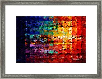 Framed Print featuring the digital art On The Grid 3 by Lon Chaffin