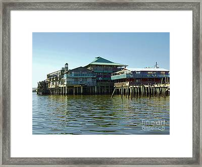On The Gulf Framed Print