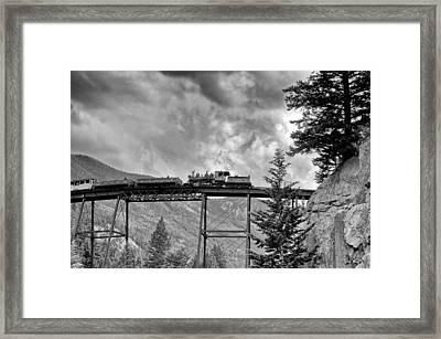 On The High Bridge Framed Print by Shelly Gunderson