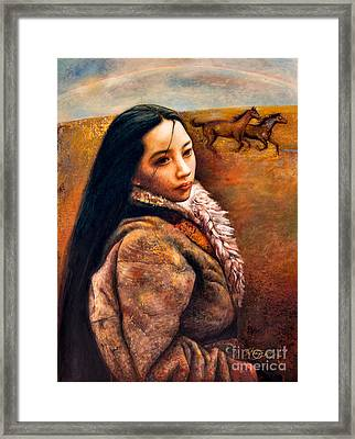 On The High Plateau Framed Print by Shijun Munns