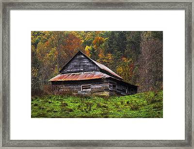 On The Hill Framed Print by Debra and Dave Vanderlaan