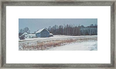 On The Hill Framed Print by Joy Nichols