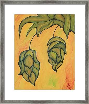 On The Hop Vine  Framed Print by Alexandra Ortiz de Fargher