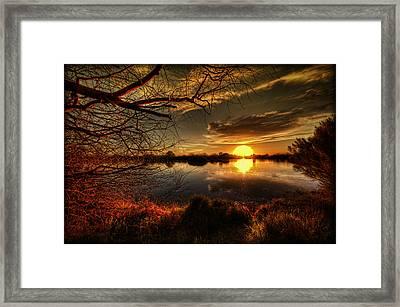 On The Horizon Framed Print