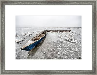 Framed Print featuring the photograph On The Ice... by Okan YILMAZ