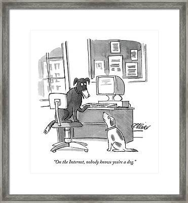 On The Internet Framed Print
