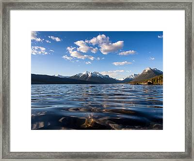 On The Lake Framed Print by Aaron Aldrich