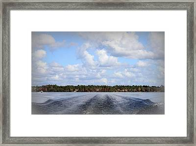 On The Lake Framed Print by Debra Forand