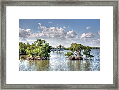 On The Lake Framed Print by Ines Bolasini